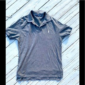 Polo by Ralph Lauren Grey Classic Fit Polo Shirt L
